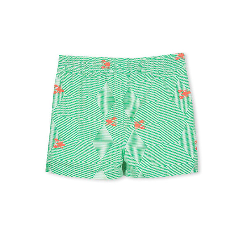 Milky Seaside Boardie - Green/White Swimwear Milky - Little Styles