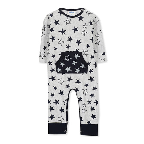 Milky Stars Romper - Speckle Marble