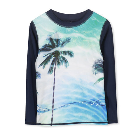 Milky Summer Long Sleeve Rashy - Midnight Blue