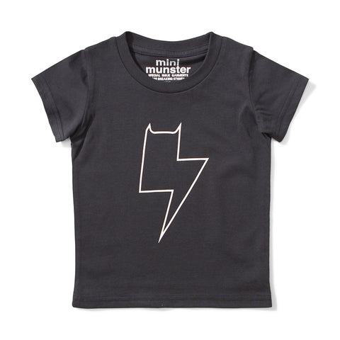 Mini Munster Charge Jersey Short Sleeve Tee - Soft Black