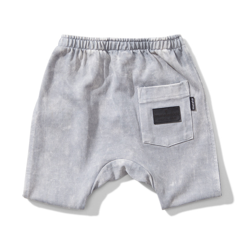 Mini Munster Spilled Milk Rugby Short - Acid Grey Short Munster - Little Styles