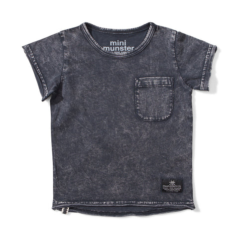Mini Munster Stirred Jersey Short Sleeve Tee - Acid Black