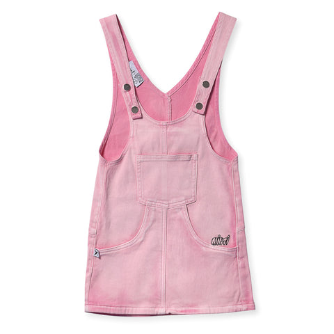 Minti Blasted Denim Dress - Pink Wash