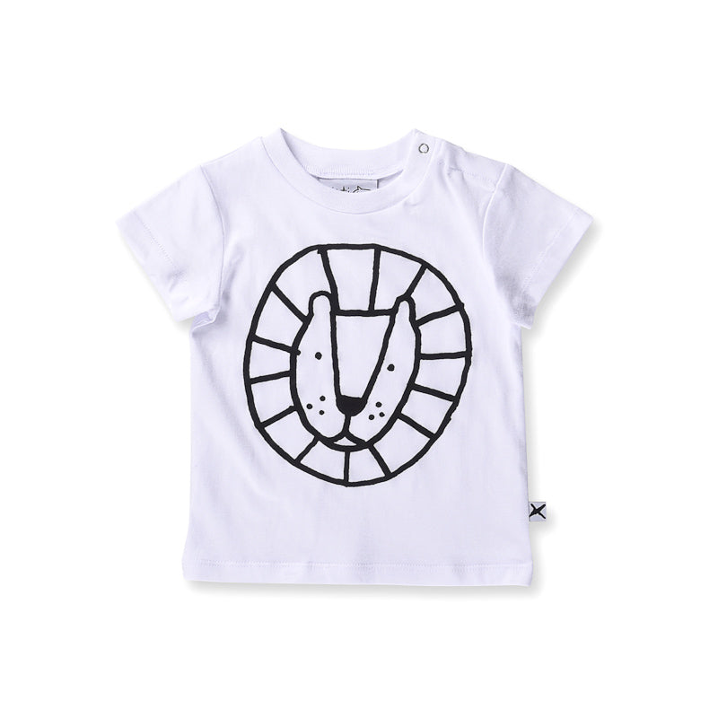 Minti Baby Circle Lion Tee - White Tops Minti - Little Styles