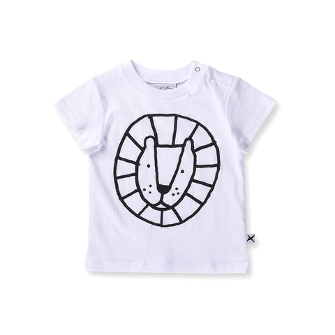 Minti Baby Circle Lion Tee - White