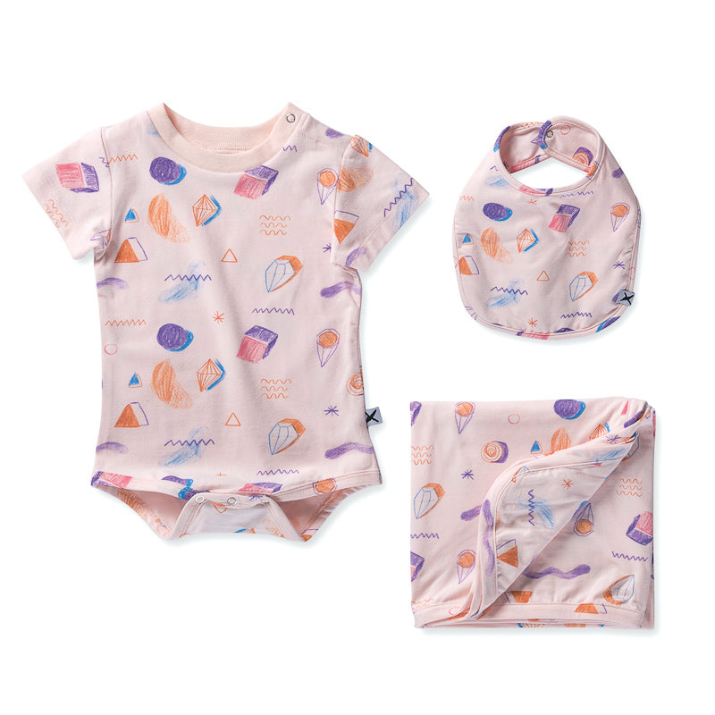 Minti Baby Coloured Pencil Gift Pack - Ballet Onesies Minti - Little Styles