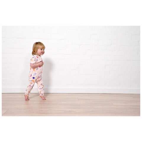 Minti Baby Coloured Pencil Summer Zippy Suit - Ballet