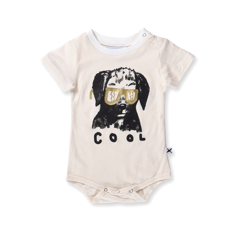 Minti Baby Cool Dog Onesie - Cream Onesies Minti - Little Styles