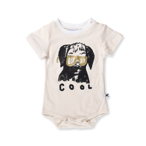 Minti Baby Cool Dog Onesie - Cream