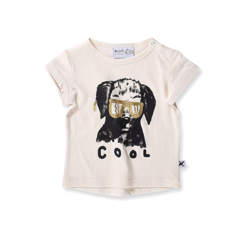 Minti Baby Cool Dog Tee - Cream