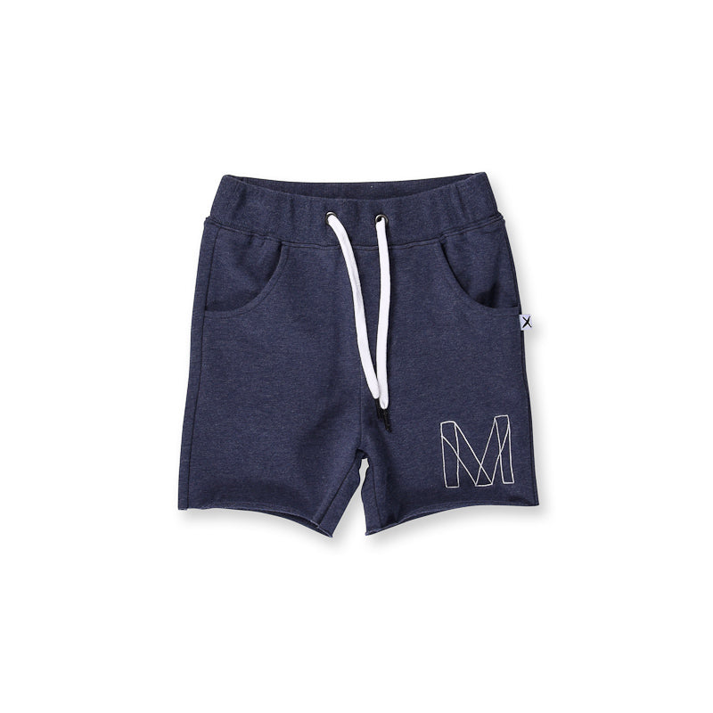 Minti Emblem Short - Midnight Marle Shorts Minti - Little Styles