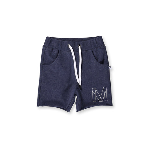 Minti Emblem Short - Midnight Marle
