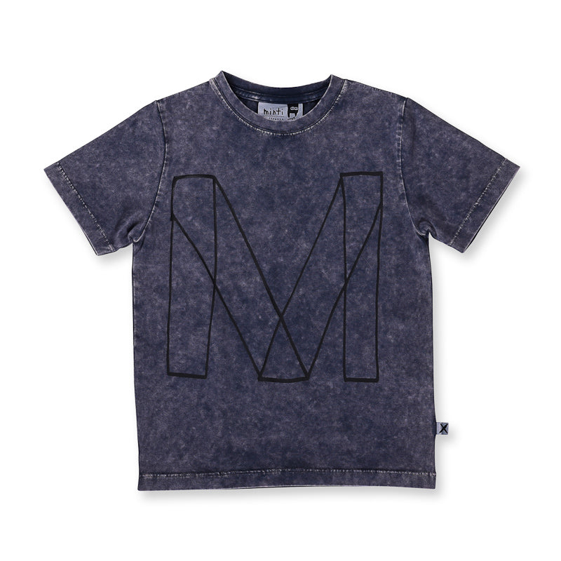 Minti Emblem Tee - Midnight Wash Tops Minti - Little Styles