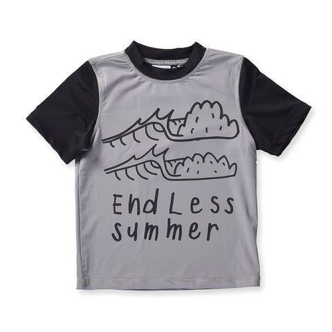 Minti Endless Summer Short Sleeve Rashie - Grey/Black