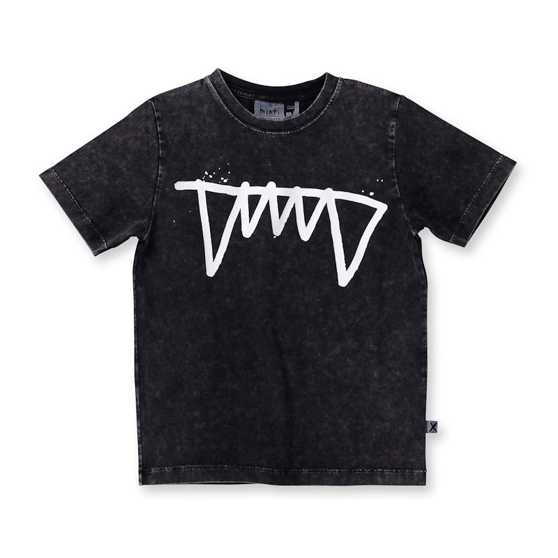 Minti Fangs Tee - Black Wash Tops Minti - Little Styles