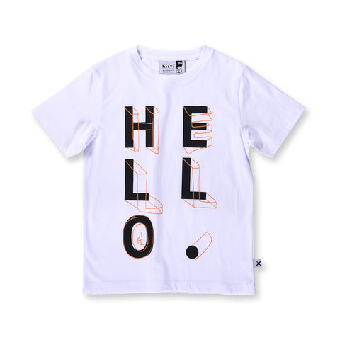 Minti Hello Shapes Tee - White
