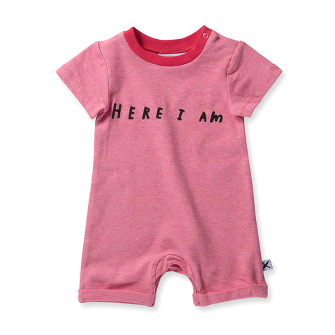 Minti Baby Here I Am Brooklyn Suit - Pink Motley