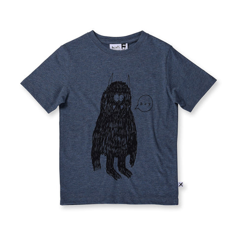Minti Hey Monster Tee - Midnight Marle