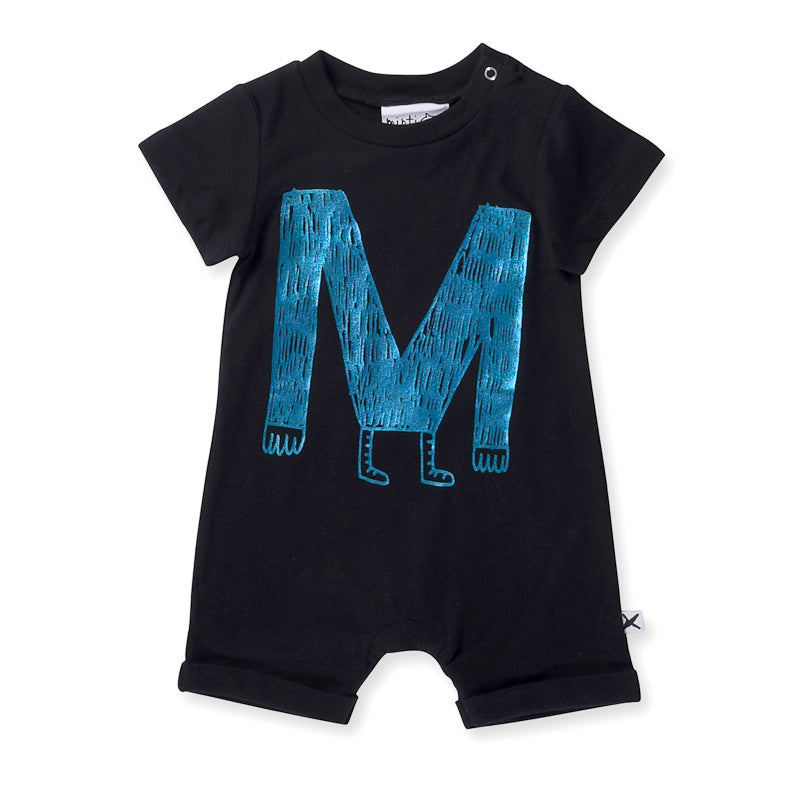 Minti Baby M Monster Brooklyn Suit - Black Onesies Minti - Little Styles