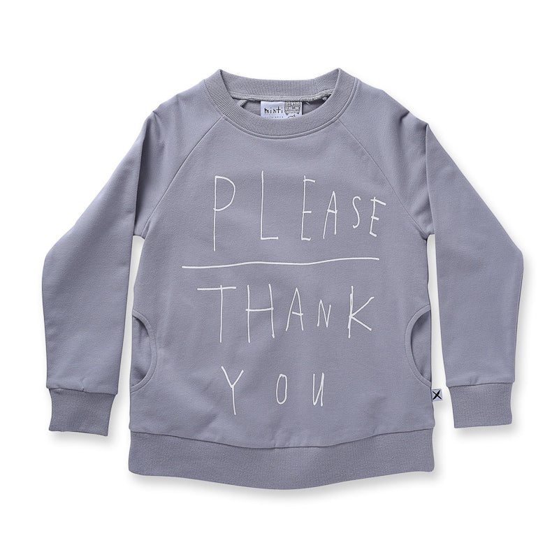 Minti Manners Crew - Mist - Please Thank You