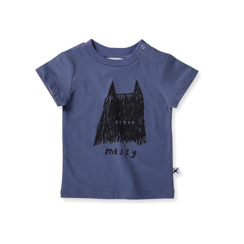 Minti Baby Messy Tee - Midnight Tops Minti - Little Styles