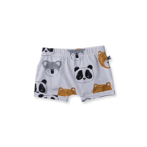 Minti Baby Painted Bears Short - White Marle