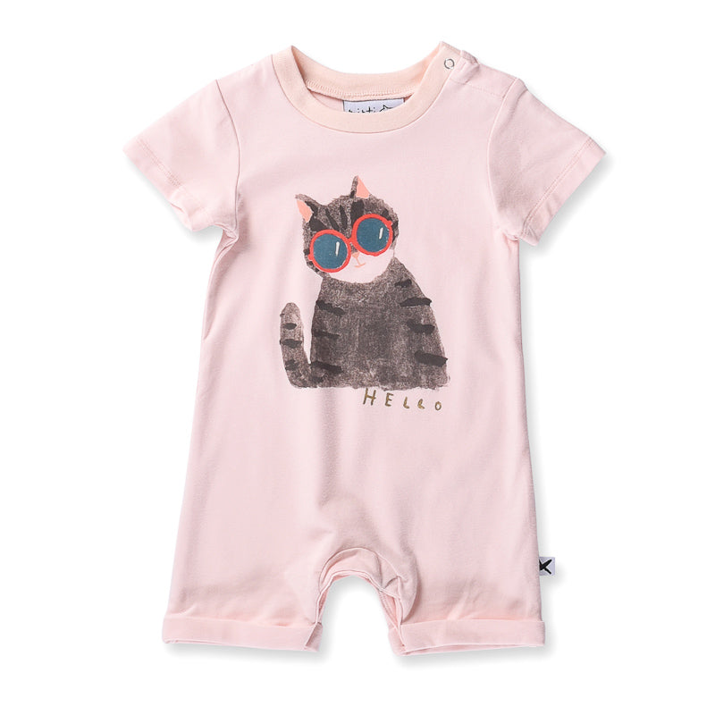 Minti Baby Painted Cat Brooklyn Suit - Ballet Onesies Minti - Little Styles