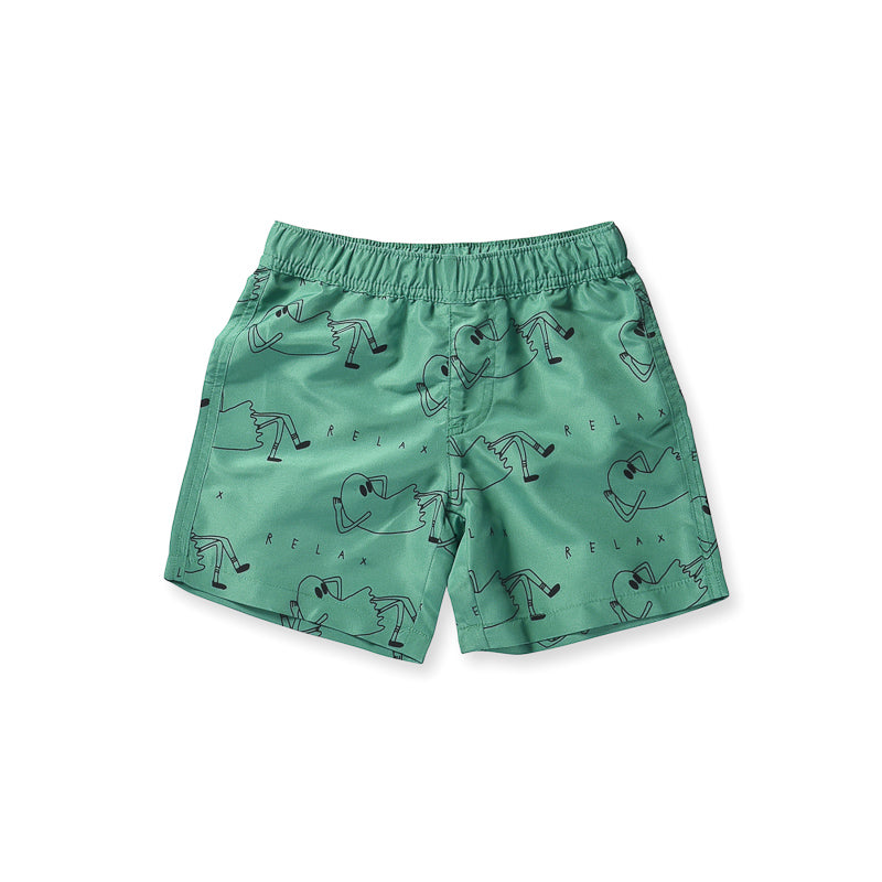 Minti Relax Boardies - Kelly Green Swimwear Minti - Little Styles