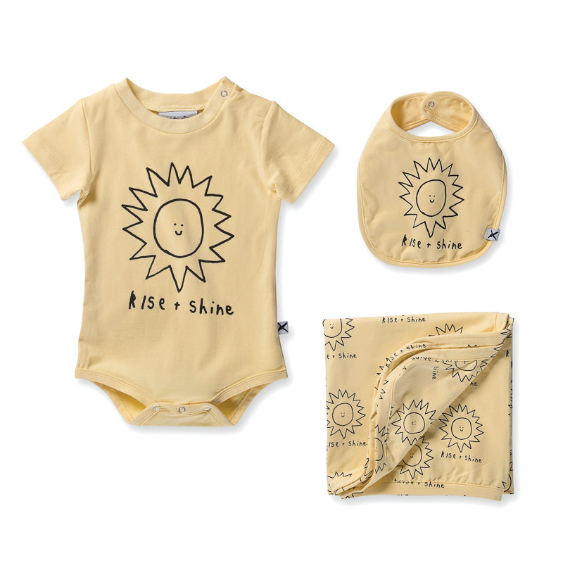 Minti Baby Rise And Shine Gift Pack - Sunshine Onesies Minti - Little Styles