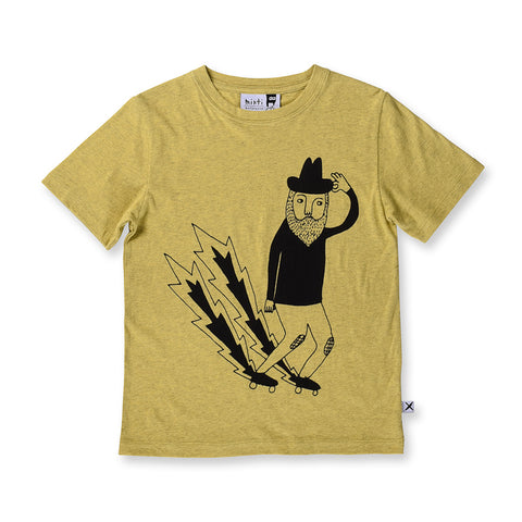 Minti See You Next Week Tee - Yellow Marle