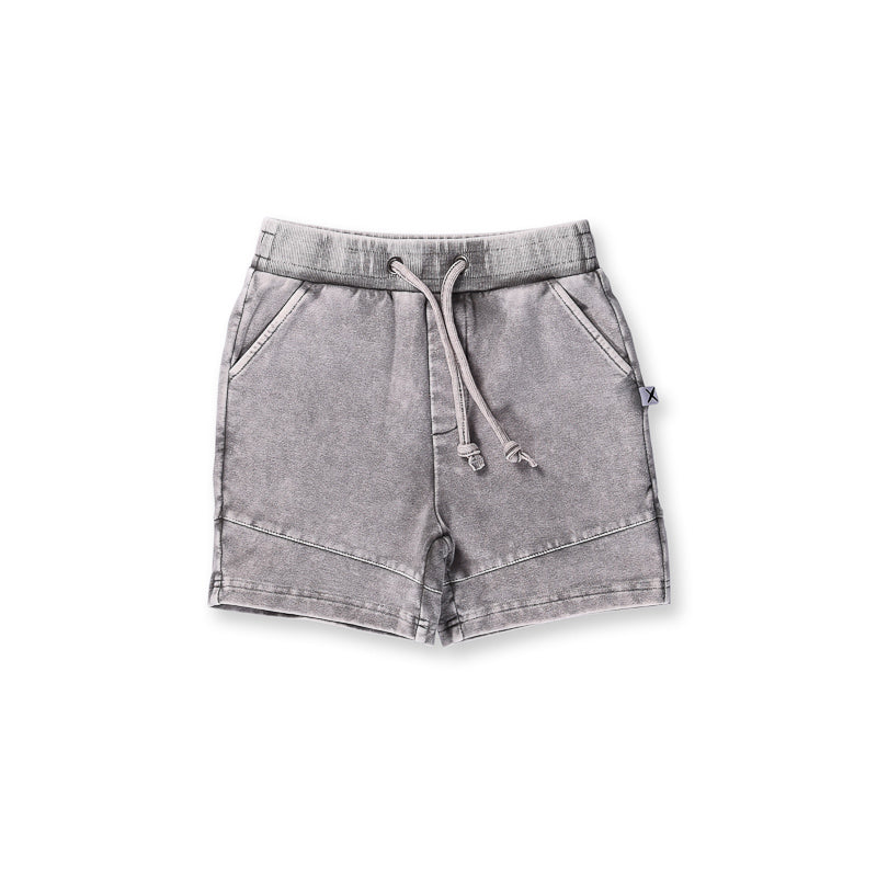 Minti Sliced Short - Grey Wash Shorts Minti - Little Styles