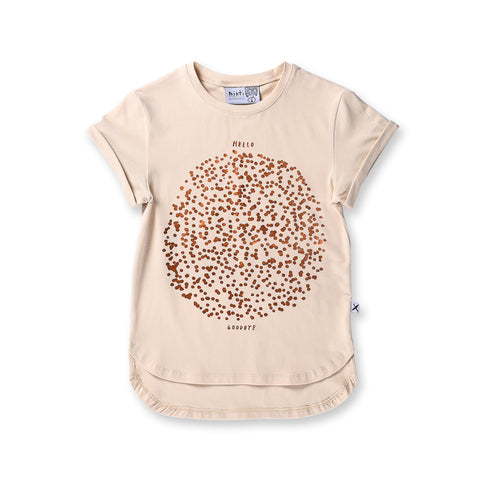 Minti Spots Drop Tee - Cream