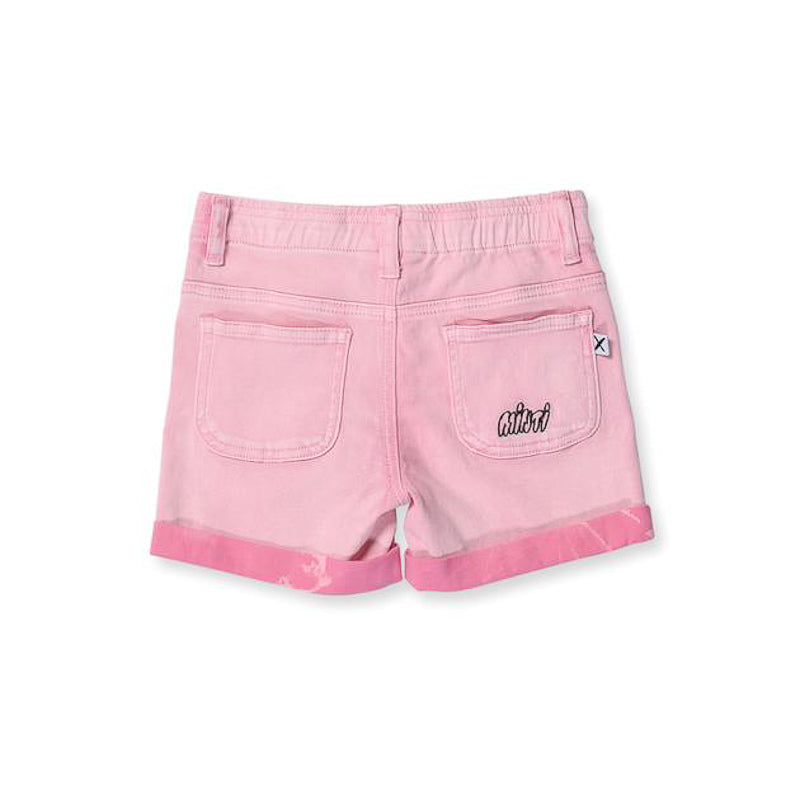 Minti Stroll Denim Short Pink Wash
