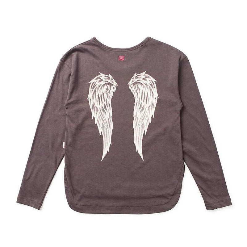 Missie Munster Angel Wings LS Tee Tops Munster - Little Styles