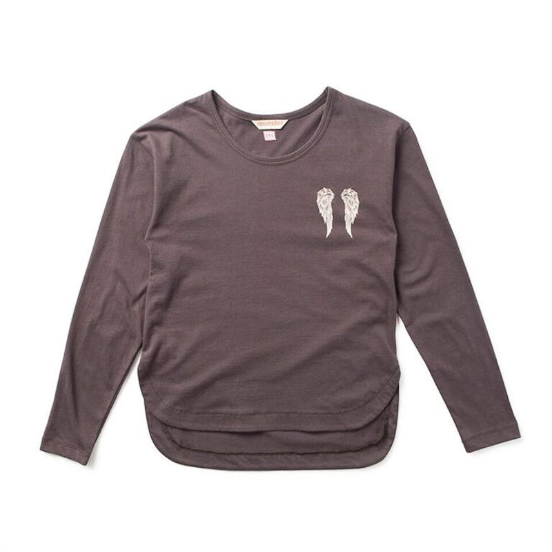 Missie Munster Angel Wings Long Sleeve Tee Tops Munster - Little Styles
