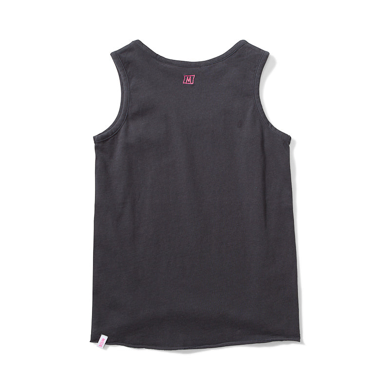 Missie Munster Kindness Jersey Singlet - Soft Black Tops Munster - Little Styles