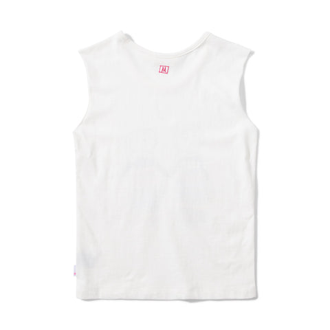 Missie Munster No Worries Jersey Singlet - Cream