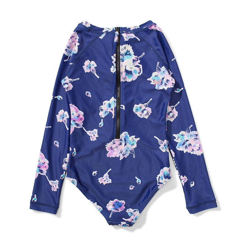 Missie Munster Usher LS One-Piece - Water Floral Swimwear Munster - Little Styles