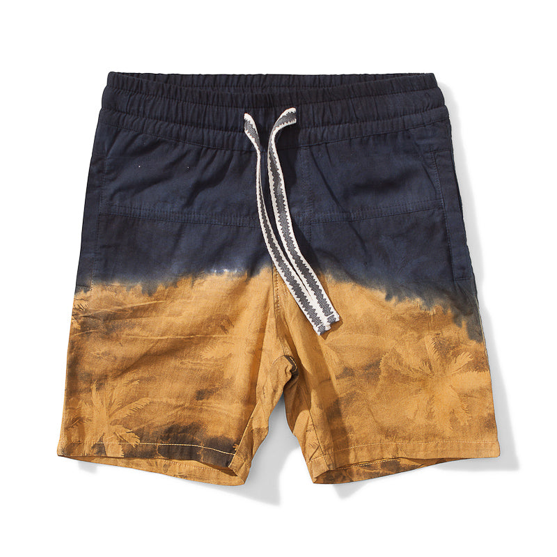 Munster Island Split Cotton Short - Mustard Shorts Munster - Little Styles