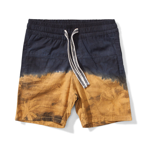 Munster Island Split Cotton Short - Mustard
