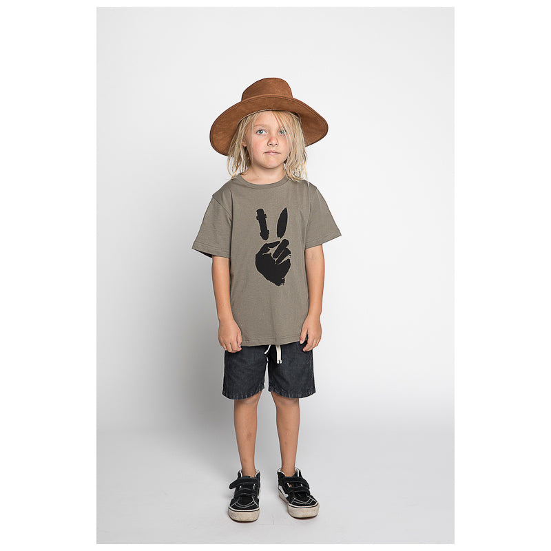 Munster Peace Out Jersey Short Sleeve Tee - Olive Tops Munster - Little Styles