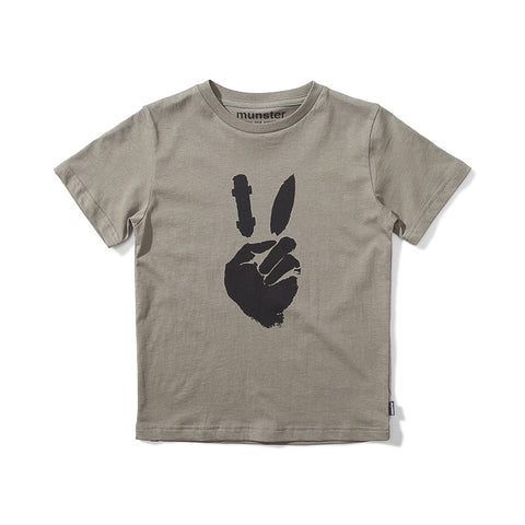 Munster Peace Out Jersey Short Sleeve Tee - Olive