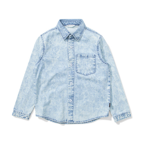 Munster Raker Denim Shirt - Acid Blue