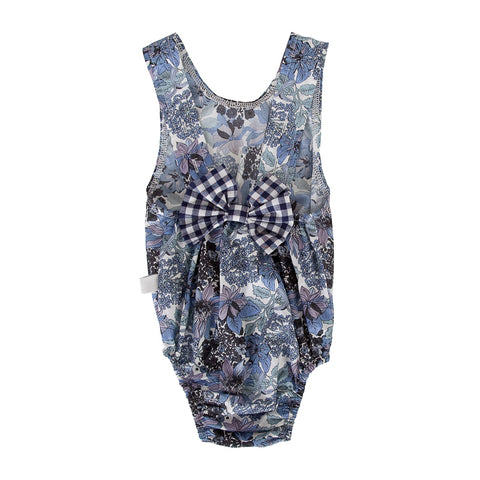 Peggy Anais Playsuit In Blue Floral