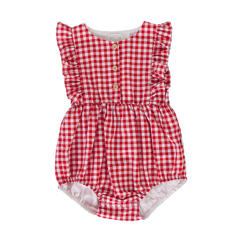 Peggy August Playsuit In Red Check Gingham