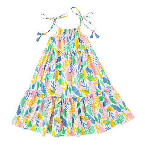 Peggy Bea Dress In Floral Abstract
