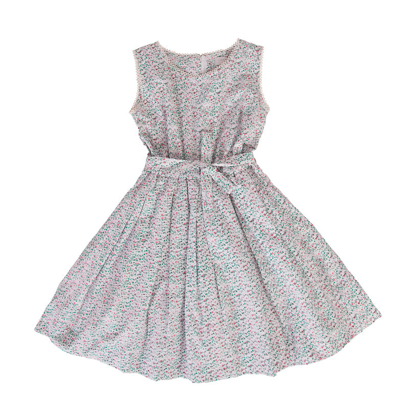 Peggy Blaze Dress in Mini Pink Floral Dresses Peggy - Little Styles