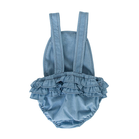 Peggy Jane Playsuit In Chambray