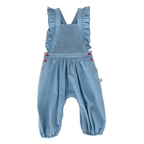Peggy Mia Playsuit In Chambray