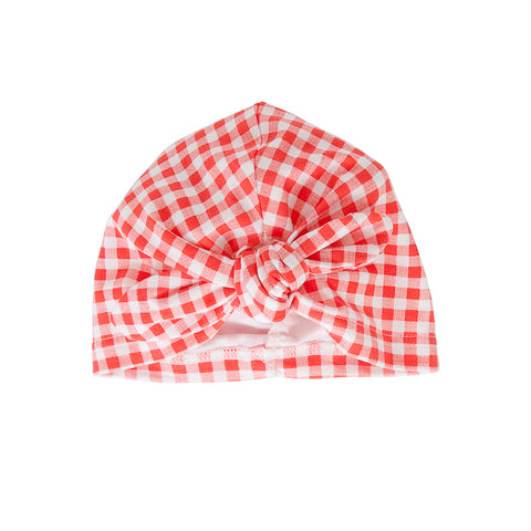 Peggy Vincy Turban in Yellow Gingham